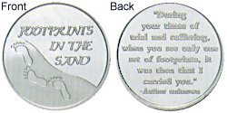 Footprints in the Sand Silver Coins